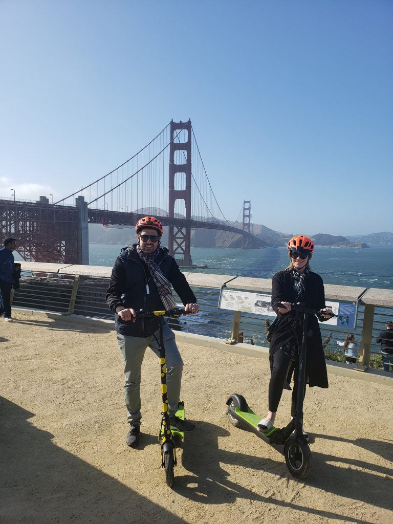 New Electric Scooters perfect for San Francisco Team Building